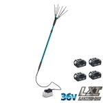 Vareador Makita HL360DZBL5 con 4 baterías BL1850