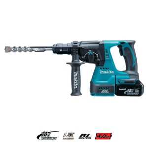 Martillo ligero Makita DHR243RME 24mm 18V 4Ah BL portabrocas