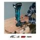 Multiherramienta Makita DTM51RMEX1 a batería 18V 4,0 Ah cortando madera