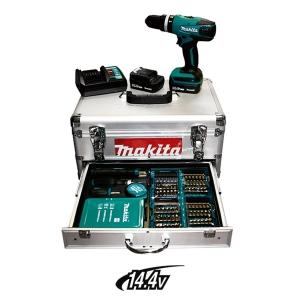 Taladro percutor Makita HP347DWEX1 14,4V Li 1,3Ah maletín