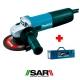 Miniamoladora Makita 9558NBRK1 840W 125mm con sistema SAR