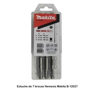 Estuche de 3 brocas Nemesis Makita B-12332 Diámetros 6-8-10 mm