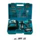Taladro atornillador Makita DDF482RFX1 a batería 18V con set 74 piezas