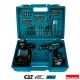 Taladro percutor Makita HP331DSAX1 10,8V Litio 2Ah con 70 accesorios