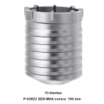 Broca de corona SDS-MAX Makita P-03822 100 mm