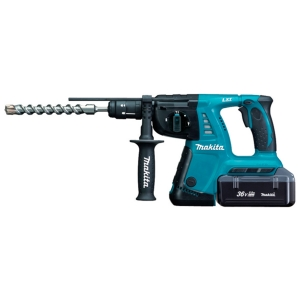 Martillo ligero Makita a batería 36V 2.2Ah Litio modelo HR262TDWBE 26 mm