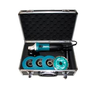 Amoladora Makita de 115 mm 720 W modelo GA4530X5 con accesorios