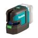 Nivel láser en cruz Makita SK105GDZ a batería 12V verde