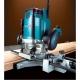 Fresadora Makita RP2300FCX 2300W pinza de 6-12 mm y velocidad regulable fresando en tablon
