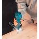 Fresadora de cantos Makita 3707FC 500 W con pinza de 6 mm fresando