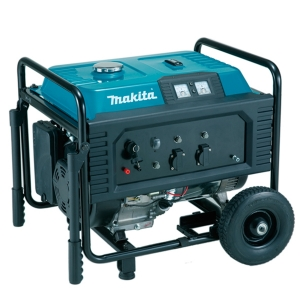 Generador Makita EG6050A 6,0 kVA motor 190 F OHV y arranque eléctrico.