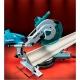 Ingletadora telescópica Makita LS1216F, 1650 W serrando