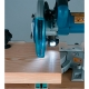 Ingletadora telescópica Makita LS0815FL 1400 W cortando