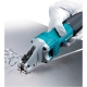 Cizalla Makita JS1601 380 W para cortes rectos cortando una chapa