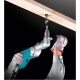 Taladro angular Makita DA4000LR 710 W perforando en tablon