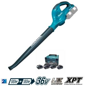 Soplador Makita DUB361PM5 a batería 18Vx2 Li con 4 BL1850 17000 rpm